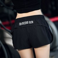 Women Fashion Letter  Print Loose Shorts Leisure Pants High Waist Sweatpants