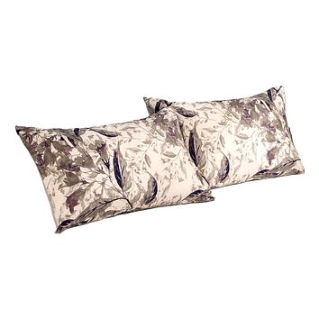 Tache Microfiber Abstract Wispy Leaf Taupe Grey Pillowcase (JHW-843)