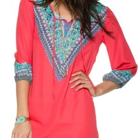 SWELL THE OUTSIDE PRINTED TUNIC