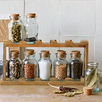 Mango Wood Spice Rack