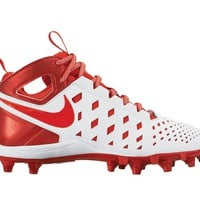 Nike Huarache 5 Youth Lacrosse Cleats - White/Red