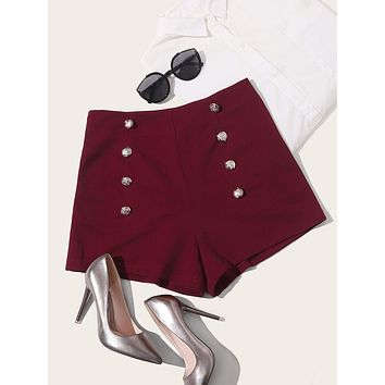 SHEIN Double Breasted Shorts