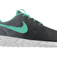 Nike Roshe Run KJCRD iD Custom Girls' Shoes 3.5y-6y - Black