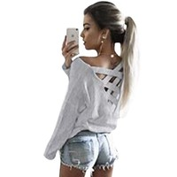 Spring Women Blouses Long Sleeve Shirt Women Sexy Back Hollow Cut Loose Ladies Tops Femme Casual Women Clothes 2017 LJ7457T