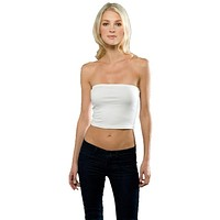 Womens Cotton Spandex Tube Top - Made in USA