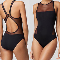 swimming One-Piece Suits Siamese Swimsuit sexy triangle swimsuit sexy youth girls Siamese Strip steel support No bra