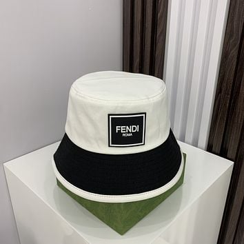 FENDI Embroidered duck tongue hat