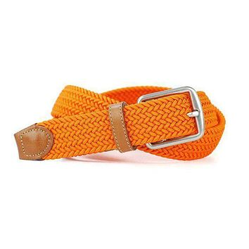 Newport Woven Belt in Tangerine Orange by Martin Dingman