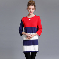 2016 Trending Fashion Women Loose Ankle-length Elastic Stretch One Piece Dress  Warm Sweater Cardigan Coat Jacket Outerwear _ 10406
