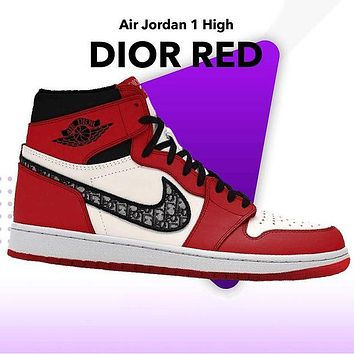 NIKE Air Jordan 1 OG High 2021 New Sneakers Shoes Red