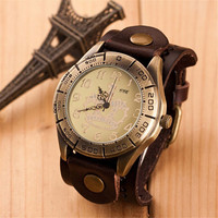 Womens Unique Nostalgia Leather Strap Watch Best Christmas Gift  Watch-421