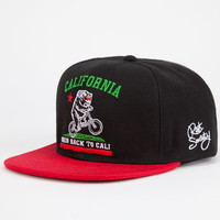 Riot Society Cali Knows Mens Snapback Hat Black/Red One Size For Men 24723412601