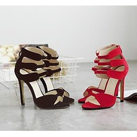 OPEN-TOE STRAPPY SANDALS