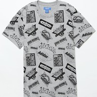 adidas Jams Graphic T-Shirt - Mens Tee - Grey
