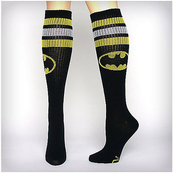 Batman Athletic Stripe Knee High Socks - Spencer's