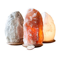 "Himalayan Crystal Salt Lamp Set ""Healthy Living"""