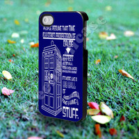 doctor who cause - for iPhone 4/4s, iPhone 5/5S/5C, Samsung S3 i9300, Samsung S4 i9500 *Greensoulcase*