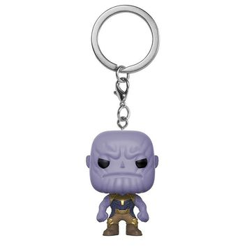 Marvel The Avengers 3 Infinity War Thanos Hulkbuster KEYCHAIN Figure Rick And Morty Collection Key Chain Toys with Retail Box