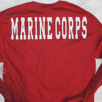 Sale! Marine corps on the back of the shirt, emblem on the front
