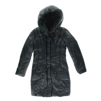 Elie Tahari Womens Quilted Down Puffer Coat