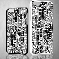 You Me At Six Quote All time low  Y0404 iPhone 4S 5S 5C 6 6Plus, iPod 4 5, LG G2 G3 Nexus 4 5, Sony Z2 Case