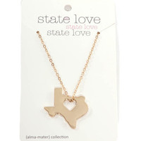 heart state necklace [texas]