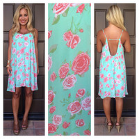 La Vie En Rose Dress - MINT
