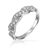 Bling Jewelry Twisted Romance Ring