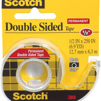 "scotch permanent double-sided tape -.5""x250"""