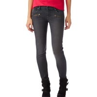 LOLA ZIP-POCKET GREY WASH JEGGING