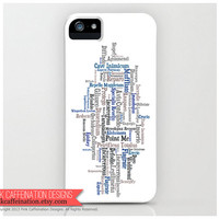 Harry Potter Case / Cover / Ravenclaw House Colors / iPhone 4, 4S and 5 Cases / Mobile Accessories / Phone Covers / Harry Potter Fan Gift