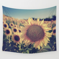 """""""Sunflowers"""" Vintage dreams Wall Tapestry by Guido Montañés"""