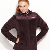 THE NORTH FACE JACKET, OSO HOODED PRINTED FLE BAROQUE PURPLE M