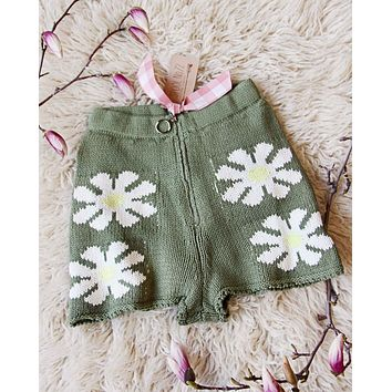 Knit Daisy Shorts