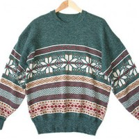 Shop Now! Ugly Sweaters: Southwestern Snowflake Tacky Ugly Christmas / Ski Sweater Men's Size 2XL (XXL) $25 - The Ugly Sweater Shop