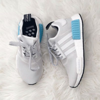 """ADIDAS"" Women Running Sport Casual NMD Shoes Sneakers Blue-Grey"