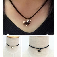 New fashion jewelry leather chain link cute unicorn pendant necklace  gift for women girl N1791