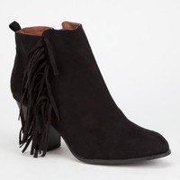 Qupid Salty Womens Booties Black  In Sizes