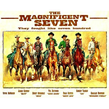POSTER HIGH-QUALITY PRINT The Magnificent 7, 16 X 20
