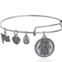 Alex and Ani  Palm pattern pendant charm bracelet,a perfect gift !