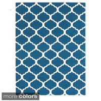 """Meticulously Woven Groves Modern Geometric Area Rug (5'3"""" x 7'3"""")"""