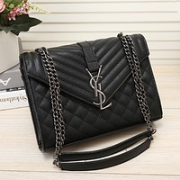 YSL Women Fashion Leather Chain Crossbody Shoulder Bag Satchel