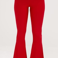 Shape Red Slinky Flared Leg Trousers