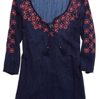 Aerie Women's Embroidered Tunic