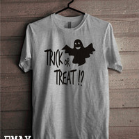 Halloween T-shirt Trick or Treat, Ghost Shirt, Scary tshirt, 100% Cotton Tee Shirt Halloween Costume