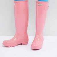 Hunter Original Tall Gloss Wellie at asos.com