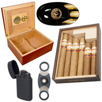 Cuban Crafters Connecticut Cigars Humidor Ashtray and Torch Lighter Combo Abuelo