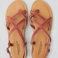 AEO Suede Slingback Sandal , Brick Red