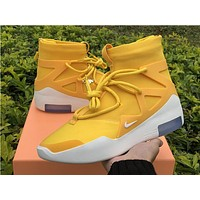 NIKE Air Fear of God 1 FOG Yellow White Men Sport Basketball Shoes Sneaker Shoes