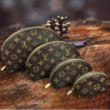 Vsgirlss Louis Vuitton LV Bag Makeup bag Cosmetic Bags For Accessories Travel Storage Cosmetic Bag Four Piece Suit